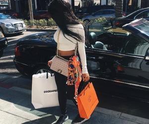 fashion, girl, and shopping image