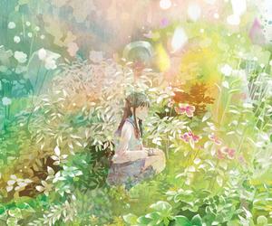 anime girl, art, and colorful image