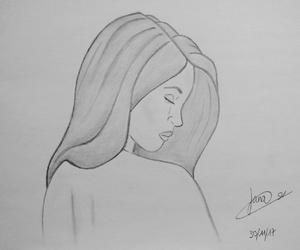blackandwhite, girl, and handmade image
