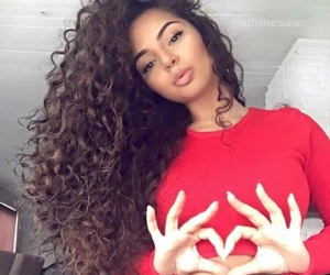 curly, beauty, and haïr image