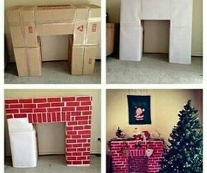 diy, christmas, and fireplace image