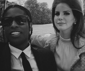 lana del rey, asap rocky, and national anthem image