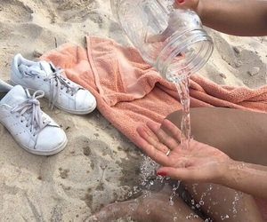 beach, water, and aesthetic image