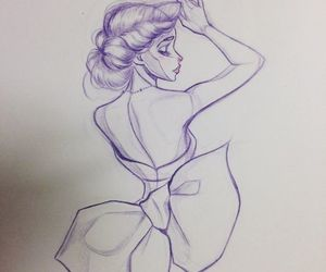 sketch, drawing, and dress image