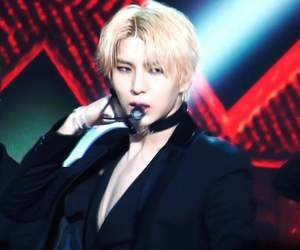blonde, chained up, and kpop image