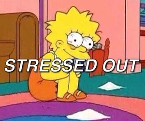 stressed out, simpsons, and grunge image