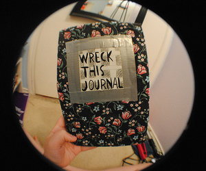 wreck this journal and floral image