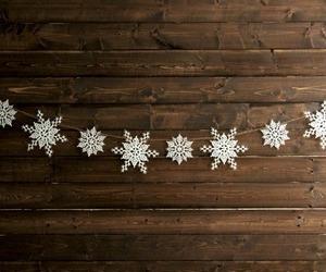 snowflake, winter, and christmas image