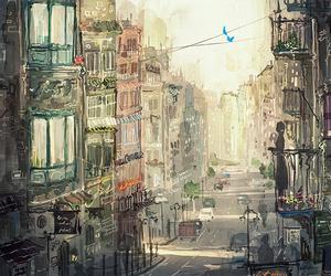 art, balcony, and beautiful image
