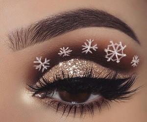 makeup, beauty, and christmas image