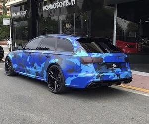 audi, car, and blue image