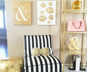 decor, gold, and home image