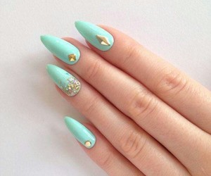 cool, nail, and sparkle image