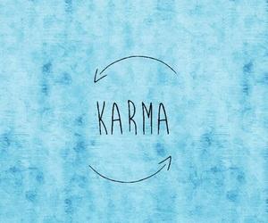 karma, blue, and wallpaper image