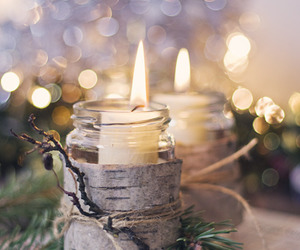 candle, christmas, and light image