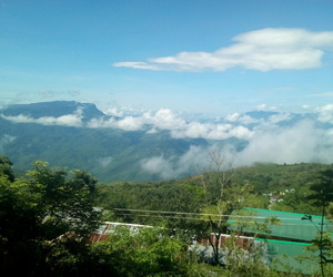clouds and green_nature image