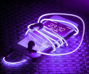 cell phone, theme, and purple image