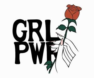 girl, girl power, and rose image