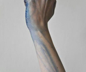 blue, dirty, and hand image