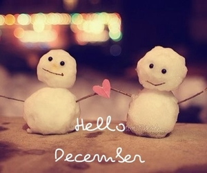 december, hello, and snow man image