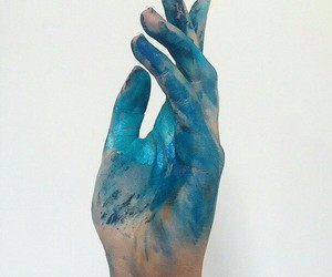 blue, aesthetic, and paint image