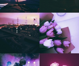 citylights, Collage, and tulips image