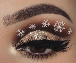 makeup, beauty, and snowflake image