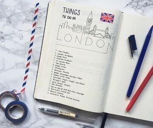 bullet journal, london, and travel image