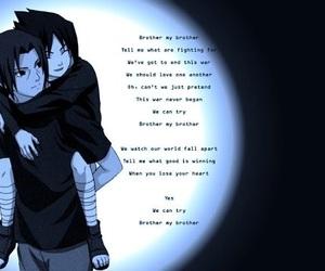 brothers, sasuke uchiha, and naruto shippuden image