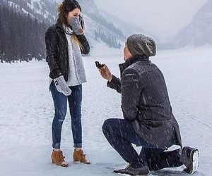 love, winter, and couple image