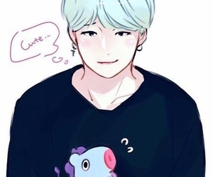 suga, fanart, and bts image