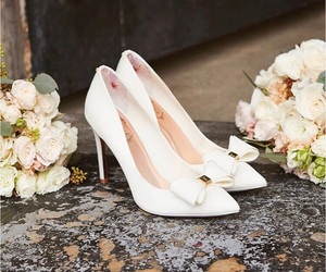 bow, heels, and high heels image