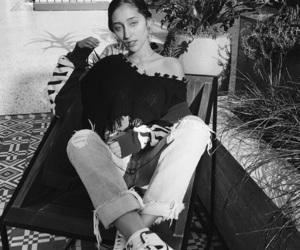 autumn, black and white, and fashion image