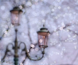 winter, light, and snow image