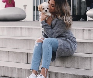 clothes, dog, and fashion image
