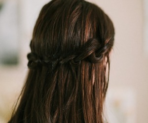 braid, hair, and brunette image