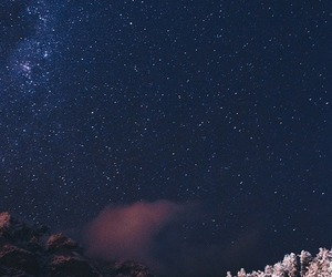 landscape, night, and snow image