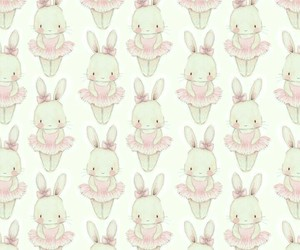 ballet, bunny, and pattern image