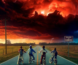 stranger things, wallpaper, and netflix image