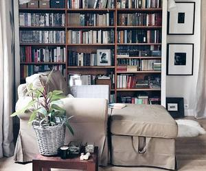 book, couch, and shelve image