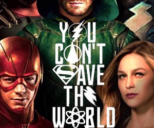 arrow, Supergirl, and the atom image