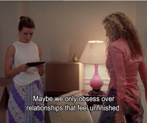sex and the city, Relationship, and subtitles image