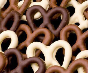 chocolate, food, and pretzel image