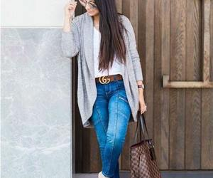backpack, chunky, and cardigan image