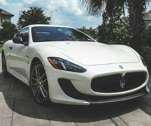 car, maserati, and white image