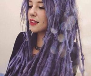 dreadlocks, fairy, and purple hair image