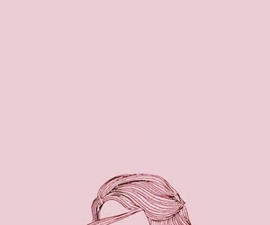 pink, wallpaper, and book image