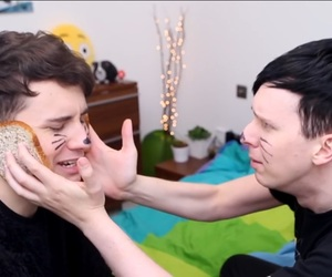 phil lester, daniel howell, and phan image