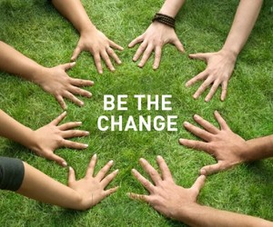 change, world, and together image