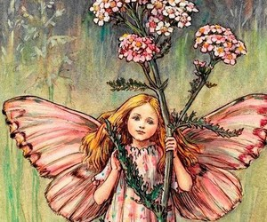 fairy, book, and child image
